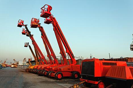 hydraulic lift platforms also known as boom lifts, man lifts, basket cranes or hydraladders, brand indpendence